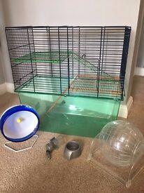 Large Gerbilarium / Hamster Cage with Extras