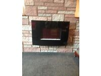 Electric wall hung black fire