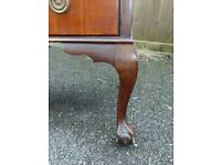 edwardian mahogany bureau chest of drawers