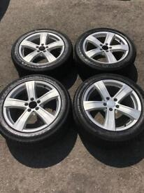 "Mercedes 18"" Alloy Wheels (Immaculate 4 Good Tyres)"