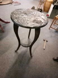 Decorative carved wood hall table - now in Horfield
