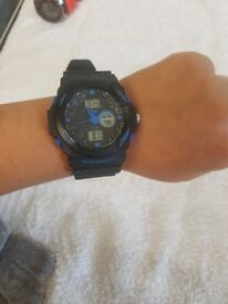 Mens Watch Blue And Black