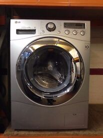 LG 8KG SPIN WASHING MACHINE SILVER RECONDITIONED