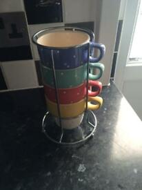 M&S set of stacking mugs