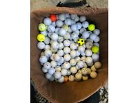 Large quantity of golf balls