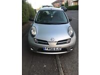 5dr Nissan Micra, 1.2, low mileage, 56 plate.