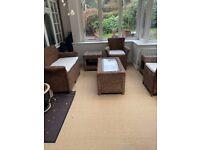 6pc Wicker Garden Furniture