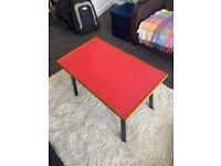 Vintage Retro Mid Century Coffee Table Bright Red Formica top