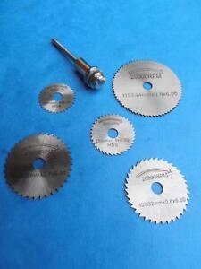 6pc Hss Circular Saw Disc Set Fits Dremel Mini Drills Rotary Tools Cutting Blade