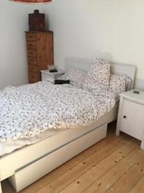 IKEA bed, nightstands, underbed storage set