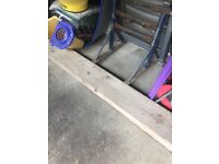 Decorators tressels and plank
