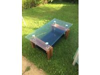 Glass coffee table- free for collection