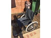 Fold away wheel chair