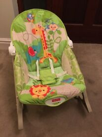 Fisher price rainforest infant to toddler rocker chair