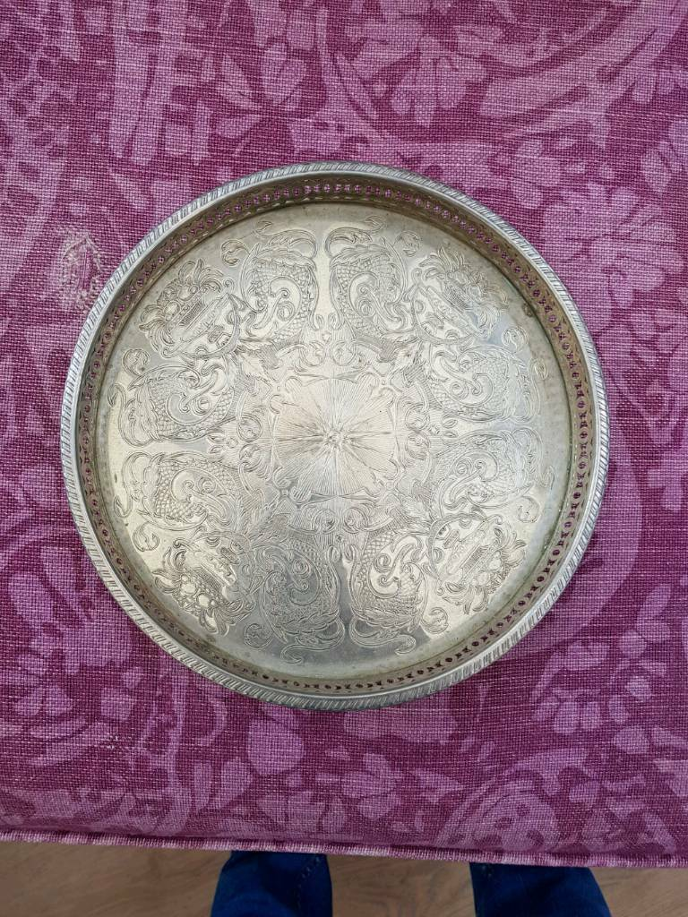 Silver plated small tray