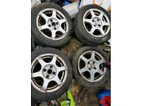 "14"" 4x100 FOX VW MAZDA E30 POLO GOLF AROSA ALLOY WHEELS"