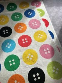 Ikea Children's Button Rugs x2 - Cost £80