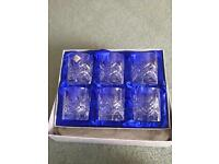 6 Edinburgh Crystal Glasses New Boxed