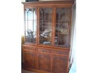 Beautiful Yew Display Cabinet Sideboard