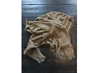 Yellow and Brown Zara Dogstooth Scarf