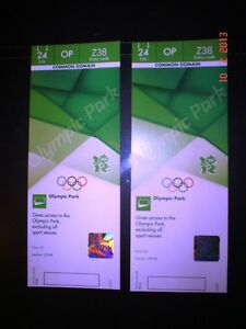 London 2012 - Olympic Games - Olympic Park Tour Tickets x2 - 24th July