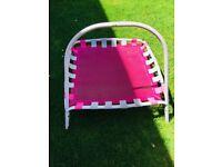 Pink trempoline