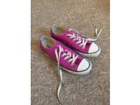 Pink Converse All Star Size 6