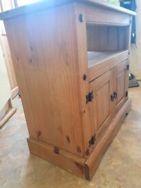 Gorgeous Mexican Pine Cupboard. Plus FREE smaller unit