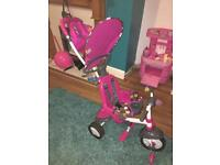 Fisher price 3 in1 smart trike - pink