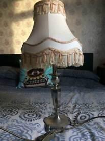 Old fashioned cream lamp