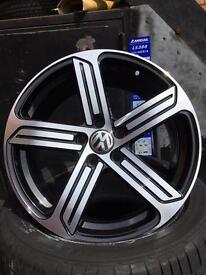 Vw golf r mk7r Cadiz alloy wheels Cadiz style vag alloys brand new alloys golf gti