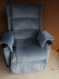 Riser recliner electric wide seat chair. Can deliver