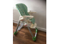 Chicco Polly Highchair in good used condition - Luton