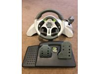 Xbox 360 Racing Wheel & Pedals