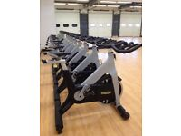 A number of Technogym Professional Spin Training Bikes