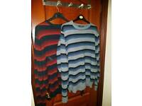 2x Mens Stripe Jumpers