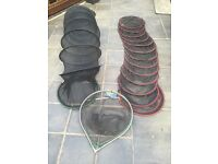 Keep nets and landing net for sale