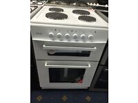 New Ex-Display Teknix 60cm Twin Cavity Solid Plate Electric Cooker £250 2 Year Guarantee