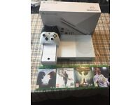 500 GB Xbox One S - 2 controllers - 4 games - HDMI and Power Lead Fully Packaged - Barely Used