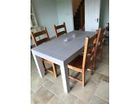 Dining Table and 4 Chairs - solid fruit wood