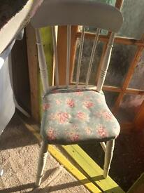 Wooden white stool