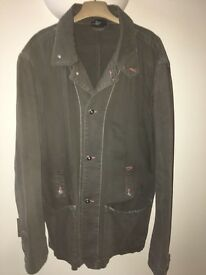 Diesel Khaki Green Men's Jacket size extra large