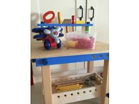 Toy woodwork table