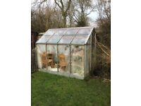 Aluminium 8X6 Greenhouse, good condition, buyer to dismantle and collect.