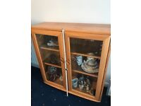 Ercol embevlled glass light up cabinet RRP £400