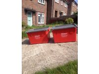 2 very large stacking storage crates, £40 each, heavy duty. strong 50x60x80cm, tools, diy, car boot