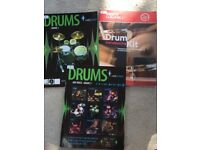 Drums drum kit sheet music books with cds brand new