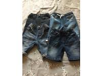 X 4 boys shorts age 3-4