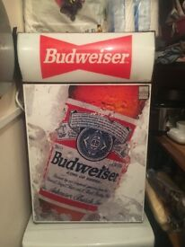 Budweiser Red Table Top or Under Counter Fridge V.RARE!