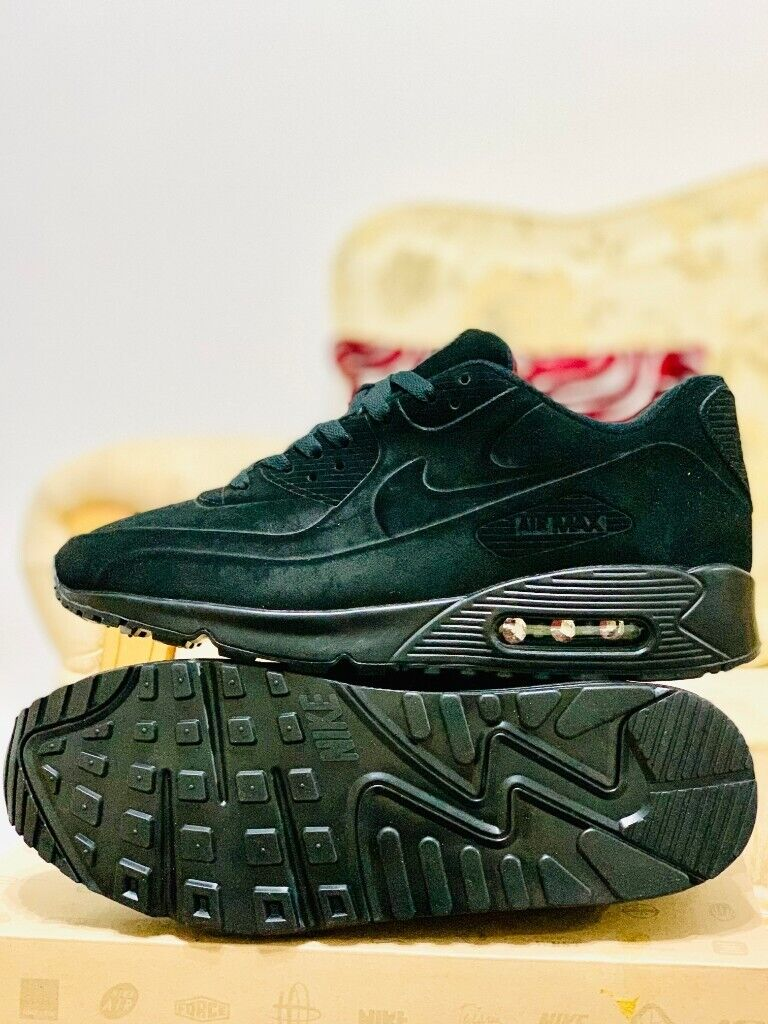 nike air max 90 all triple black suede hyperfuse all sizes inc delivery paypal Red Sole x x | in Hockley, West Midlands | Gumtree